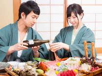夕食はお部屋食♪ご家族でカップルで、気兼ねなくお楽しみください