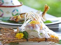 *岐阜・郡上の今の【素材】を使った料理は、師範の腕前を持つ若旦那が腕を振るいます。