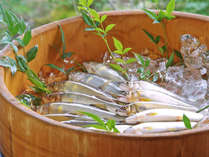 *郡上の鮎は過去3回日本一に! 釣り名人の主人自ら釣上げた鮎をお楽しみください。