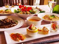 福島牛(黒毛和種)と旬の会津産野菜と果物をふんだんに使い手間暇かけた仏&伊のコース料理どうぞ!