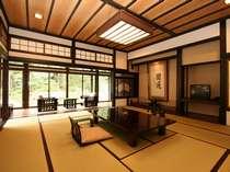 御居間屋敷「大庭園側」客室一例