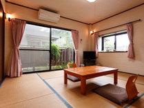 ●たんぽぽ 客室/たんぽぽとすみれは同じ八畳のタイプ別に洗面トイレ洋服入れクロゼットなどの客室