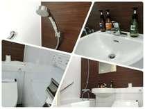 スーペリアシングルのバスルーム。デザインはお部屋によって変わります。