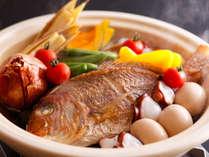 淡路島名物の宝楽焼や季節の一人鍋などがついた季節の会席を旬鮮ダイニングで愉しむプラン≪料理イメージ≫