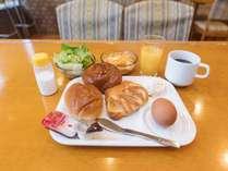 嬉しい無料の軽朝食付き!