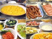 ≪洋食派の方にオススメ朝食♪≫ソーセージ・ベーコン・シチュー・サラダ・フルーツ・ヨーグルト・パン
