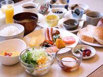 30種類の和洋食バイキング朝食付プラン♪