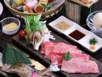 *【夕食一例】贅沢に2大ブランド牛のしゃぶしゃぶ食べ比べ!