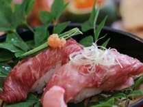 【夕食ライトプラン】飛騨牛と信州牛の炙り寿司食べ比べ♪腹八分目セット