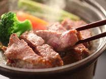 やわらかいと評判の信州牛のステーキです。