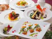 創作なコース料理。スカイレストランにて。