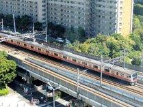 景観(電車)駅直結の立地なので、電車が見える客室も!