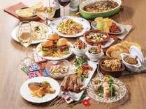【ご夕食】レストラン「グランサンク」ディナーブッフェ 6~8月【ワールドフェア】