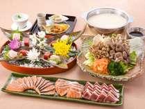 和風シチュー仕立ての『秋鮭と合鴨の白湯鍋』御膳