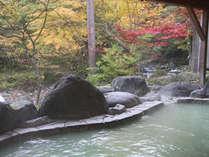 秋には露天風呂から紅葉がお楽しみいただけます。