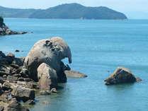【1泊3食付】昼食は島で海鮮BBQ!夕食は洋食※天然記念物「象岩」に会う・六口島海水浴プラン(禁煙)