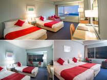 お部屋(洋室)ホテルおまかせ。(26.9平米~32平米)全室禁煙・Wi-Fi無料接続