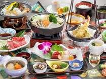 上州牛すき焼きがメインの会席料理をお楽しみください。