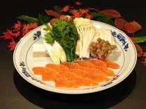 信州サーモン・しゃぶしゃぶ鍋(メイン料理イメージ) ※お鍋のほか、御造りや天婦羅も付きます