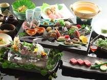 山海の幸と信州の旬材を盛り込んだ『和会席風料理』をご賞味くださいませ。(料理イメージ)