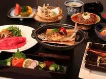 信州ならではの旬材がならぶ【会席料理】(ご夕食一例)