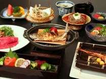 <お料理イメージ>ご夕食は、信州の旬の食材を使用した【会席料理】