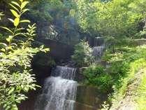 牧水荘の窓からは湯沢の滝がご覧いただけます。