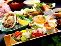 【夏の季節限定】 夏一番のり!瀬戸内の相生産岩ガキと夏の旬の味覚を堪能♪「岩牡蠣と夏野菜の彩り会席」