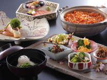 【春の季節限定会席】 春爛漫♪♪春野菜と桜鯛をはじめとする新鮮な旬の魚介を堪能☆