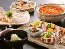 【旬の季節限定会席】 旬の地野菜と桜鯛をはじめとする新鮮な旬の魚介を堪能☆