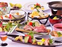 【直前割】【夏の家族旅応援】夏楽フェア  牛肉とみやざき地頭鶏の陶板焼と夏の味覚会席