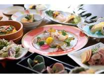 早期割50【こだわりのご夕食】小豆島・オリーブで健康美食『山』 ~オリーブオイル×和食!お試しあれ~