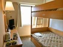 【2段ベッドルーム】ベッドサイズ:100×195㎝