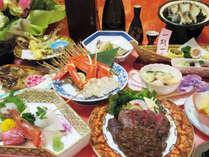 お部屋食♪≪活アワビ&国産牛フィレ≫二大ステーキ食比べ