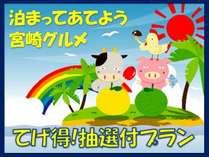 【てげ得】宮崎グルメ抽選付宿泊プラン☆朝食付