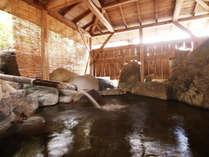 ■【温泉】露天風呂も自然あふれる広々とした岩風呂☆