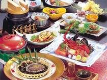 【夕食『夢』】地元で獲れる新鮮な海の幸をお召し上がりください(料理写真はイメージです)