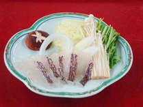 活けの鯛を使用した≪鯛しゃぶ≫(料理写真はイメージです)
