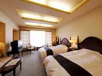 洋室ツインルーム(全客室40インチ液晶テレビ・加湿空気清浄機完備)
