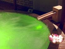 【はちきんの湯(女性/夜)】7色に光るジャグジー付展望露天風呂