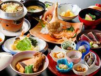 <レストラン食>カツオの焼き切りや西貝&赤海老の焼物付き会席