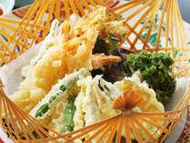 【高知の食材お好み天ぷら】全10種類の食材の中からお好きなものを5種類お選びいただきご提供いたします