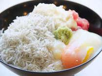 【朝食バイキング】土佐丼 お好きな具材をのせてご自由にお召し上がりくださいませ。