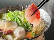 【冬の味覚鍋】お鍋の主役は「本クエ・金目鯛・鯨畝須」。食材の出汁と旨みが絶妙な冬のあったか柚子塩鍋♪