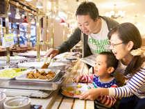 キッズも喜ぶデザートやチョコファウンテンも♪大人も子供も楽しめる家族時間!