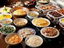 【ご朝食】全体◆20種類以上の和洋バイキングをご用意しております!