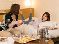 【お部屋】女子旅にピッタリ◎お部屋は全室広々17平米以上♪