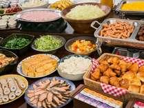 【ご朝食】毎朝20種類以上の和洋食バイキングをご用意しております♪