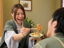 お部屋で仲良くお食事は如何ですか。(イメージ画像)