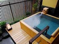 ◆特別室英彦の露天風呂◆筑後川が一望できる露天風呂(天然温泉)。お二人でも充分の広さです。